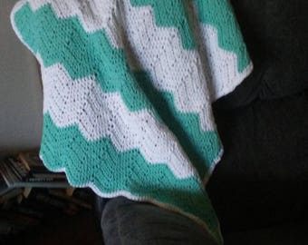 Custom chevron baby blanket