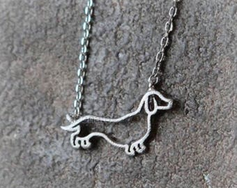 "The Olive--Dachshund Love ""Wearable Weiner"" Necklace"