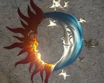 Sun, Moon, and Stars Art Large