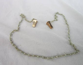 Vintage Sweater Shawl Clips wtih Faux Pearl Chain