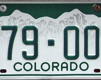 Colorado License Plates for Crafting or Art
