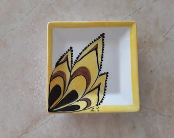 Hand-painted porcelain cup
