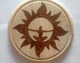 Painting on wood burning pyrography men's meditation meditation
