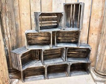 Vintage style fruit crates