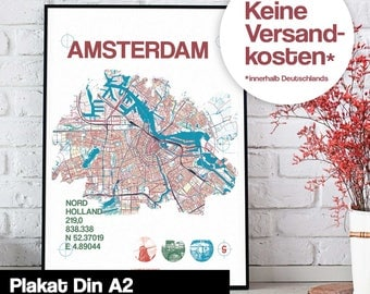 Poster - Amsterdam map