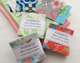 """Mini Charm Packs 2.1/2""""  x  2.1/2"""" Moda Manderley Each pack contains 20 pairs of squares, i.e. 40"""