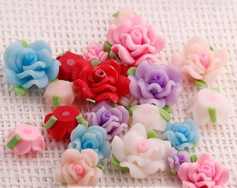 Porcelain rose Princess set 10 pieces set 8 mm 12 mm