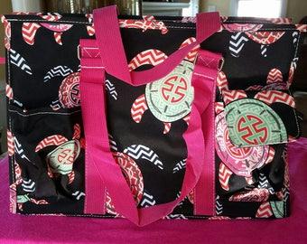 Preppy Sea Turtles Market Tote Bag
