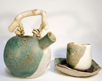 Set teapot, 1 cup and his saucer