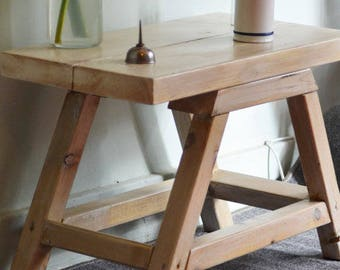 Industrial Side Table End Table Mid Century Modern Style