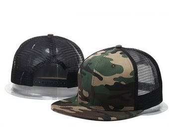 Basic Camo Snapback Hat Cap Beretto Casquette grid
