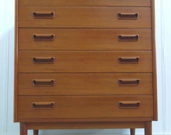 Brdr Larsens Danish teak chest of drawers 1960's