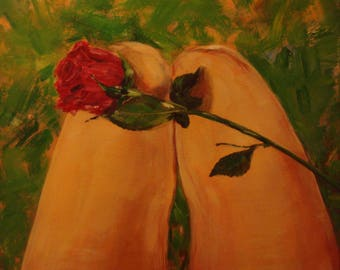 Rose on Thigh