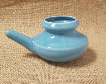 Handmade Ceramic Neti Pot - Robin's Egg