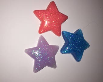 star cabochons mix of 3