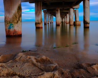 Altona Beach Pier -Melbourne, Australia, beach photography, Under the pier, long exposure, Fine Art photography