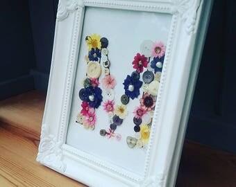 Bespoke Flower Letter Birthday Wedding Christening Gift