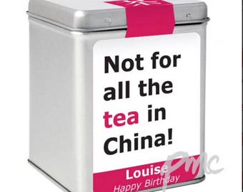 Personalised  Tea Caddy Gift
