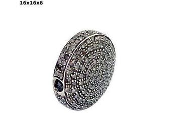 Victorian style Rose cut Pave diamond large polki diamond 16 x 16 x 6 mm Bead Ball / jewelry making / for bracelets and necklace - PJBE2033
