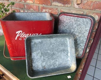 "Vintage 1950's ""Pleasure Chest"" Cooler Picnic with the original tray"