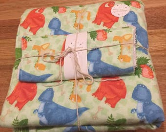 Baby blanket and burp cloth set