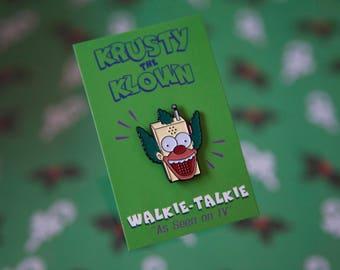 Krusty The Klown 'Walkie Talkie' Soft Enamel Pin Badge