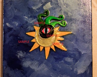 Sun God, Original Painting by Kati Kramer 8 x 10