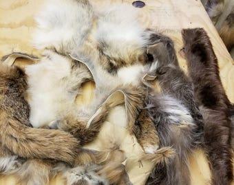 assorted fur scraps  5 lb bag