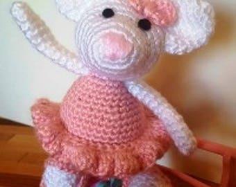 Penelope - Crocheted Ballerina Mouse
