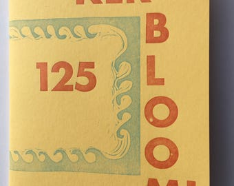 Kerbloom letterpress zine about dream vacations