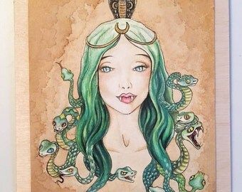 Medusa - Watercolor & Acrylic Painting Greek Mythology