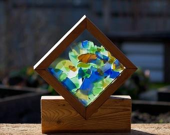 Suncatcher Freestanding Windowsill Kaleidoscope Sea Glass Sun Catcher