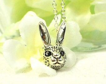 Bunny Jewelry Bun Bun - Rabbit Pendant - Bunny Jewelry -Pet Bunny Rabbit -Woodland Animal -Bunny Necklace -Gift for Daughter -Nature Jewelry