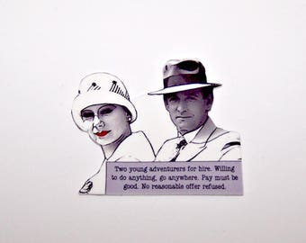 Agatha Christie TOMMY & TUPPENCE Mystery Quote Pin