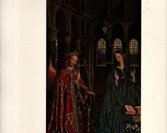 The Annunciation - Jan Van Eyck - Vintage Art Print