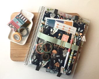 Forest trail planner accessories bag, pencil pouch - Fits Big Happy Planner - For use with Erin Condren LIFE PLANNER™ deluxe