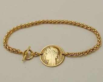 France Coin Bracelet 1941 Centimes