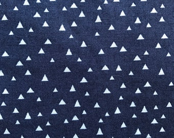 Weighted Blanket - Adult or Child - Little Triangles Gray and Navy - Choose your weight (up to 15 lbs) and minky color