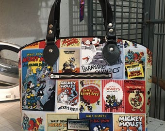 Mickey and Minnie Classic Posters Domed Handbag (Swoon Lola)
