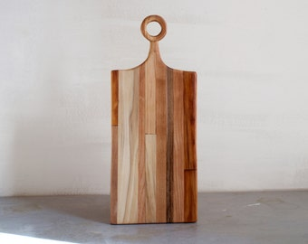 Serving Board with Hand-Carved Handle