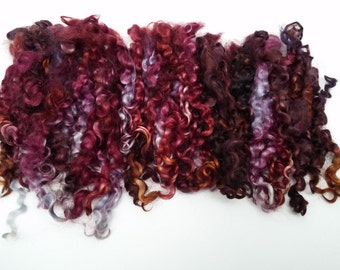 Wensleydale Locks 6-8 Inches, 2 oz, Separated, Defined, Bouncy, Hand Dyed, Doll Hair, Reroot, Blythe, Waldorf, NOV0616A