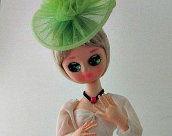 Vintage 1970's Pose Poseable Big-Eyed Doll - Boudoir Glamour Stockinette Souther Bell Doll