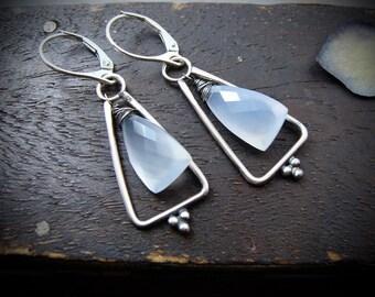 seraphim ... chalcedony earrings ...