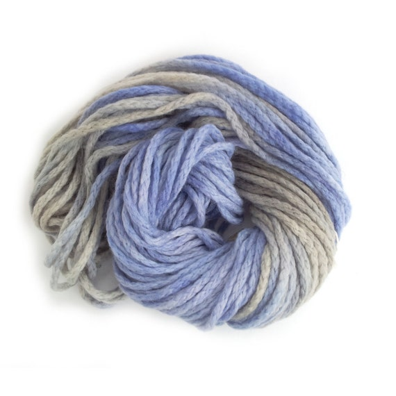 Free Knitting Patterns For Variegated Yarn : Chunky merino wool, purple grey bulky chainette yarn, Perran Yarns Purple Rha...