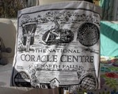 Upcycled Tote Bag, Upcycled Tea Towel, Coracle Centre, Black and White Tote, Eco Tote, Market Tote, Grocery Tote, Library Tote, OOAK