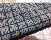 50% OFF- Modern Blue Fabric--Reclaimed Bed Linens