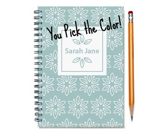 18 month planner with monogram, Start any month,  Personalized weekly planner, 2017 2018 month customizable planner, SKU: epi whtflm