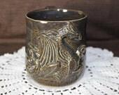 Dragon  mug / handmade pottery / stoneware coffee mug
