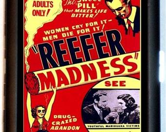 Reefer Madness Marijuana Cigarette Case Rockabilly Dope Weed Drugs Pot Vintage Poster Art ID Business Card Credit Card Holder Wallet