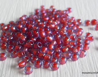 """11/0 Toho Seed Beads -  Light Sapphire Hyacinth Lined - 2.5"""" Tube"""